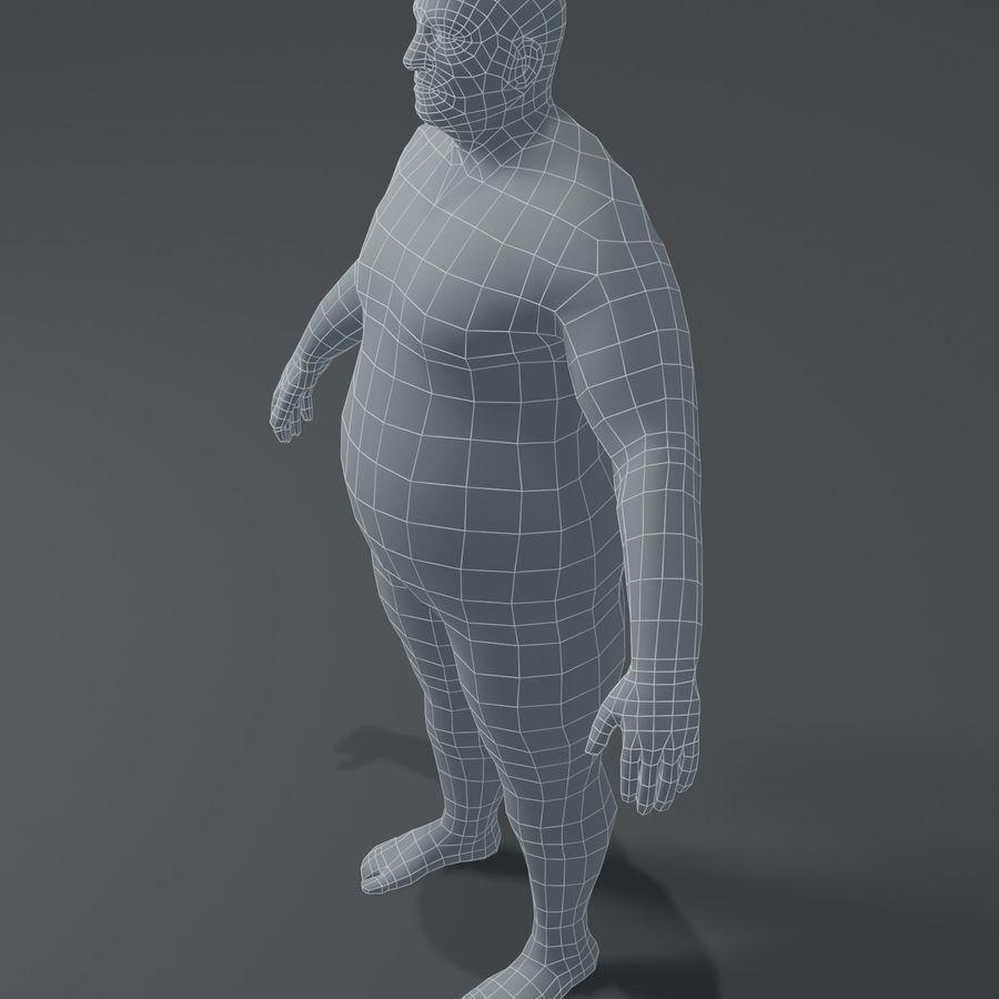 Male Body Fat Base Mesh 3D Model royalty-free 3d model - Preview no. 12