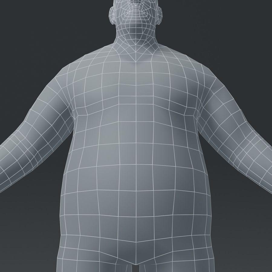Male Body Fat Base Mesh 3D Model royalty-free 3d model - Preview no. 10