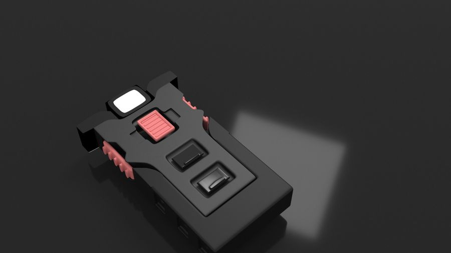 scanner royalty-free 3d model - Preview no. 4