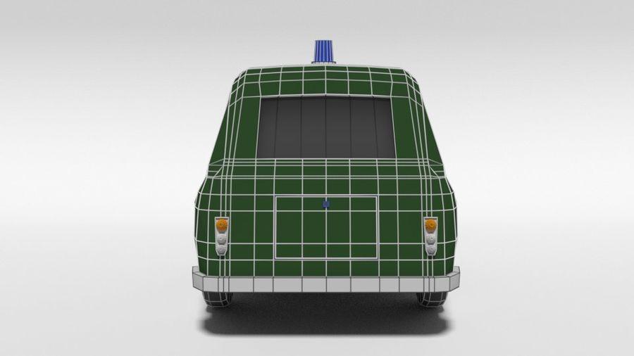 Low Poly Cartoon Retro Polizeiauto royalty-free 3d model - Preview no. 13