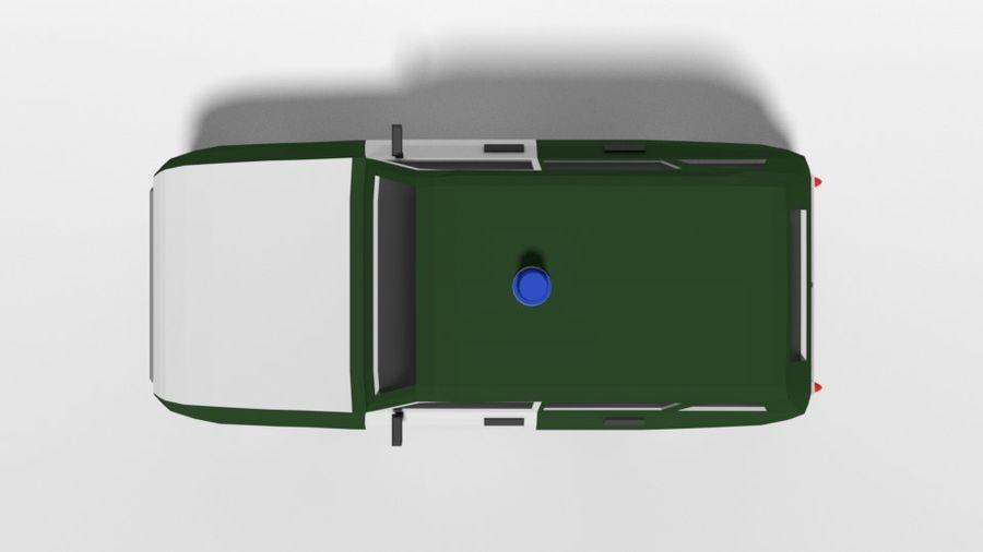 Low Poly Cartoon Retro Polizeiauto royalty-free 3d model - Preview no. 9