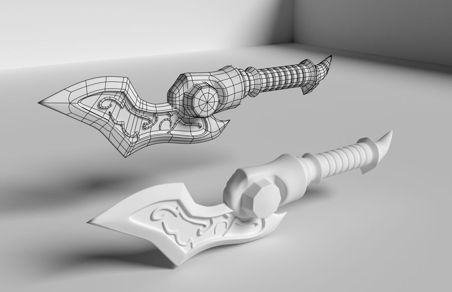 Dagger royalty-free 3d model - Preview no. 7