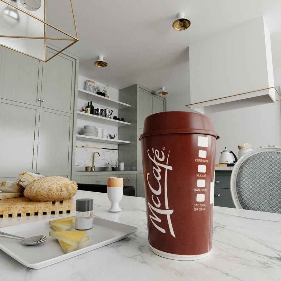 Coppa McCafe royalty-free 3d model - Preview no. 4