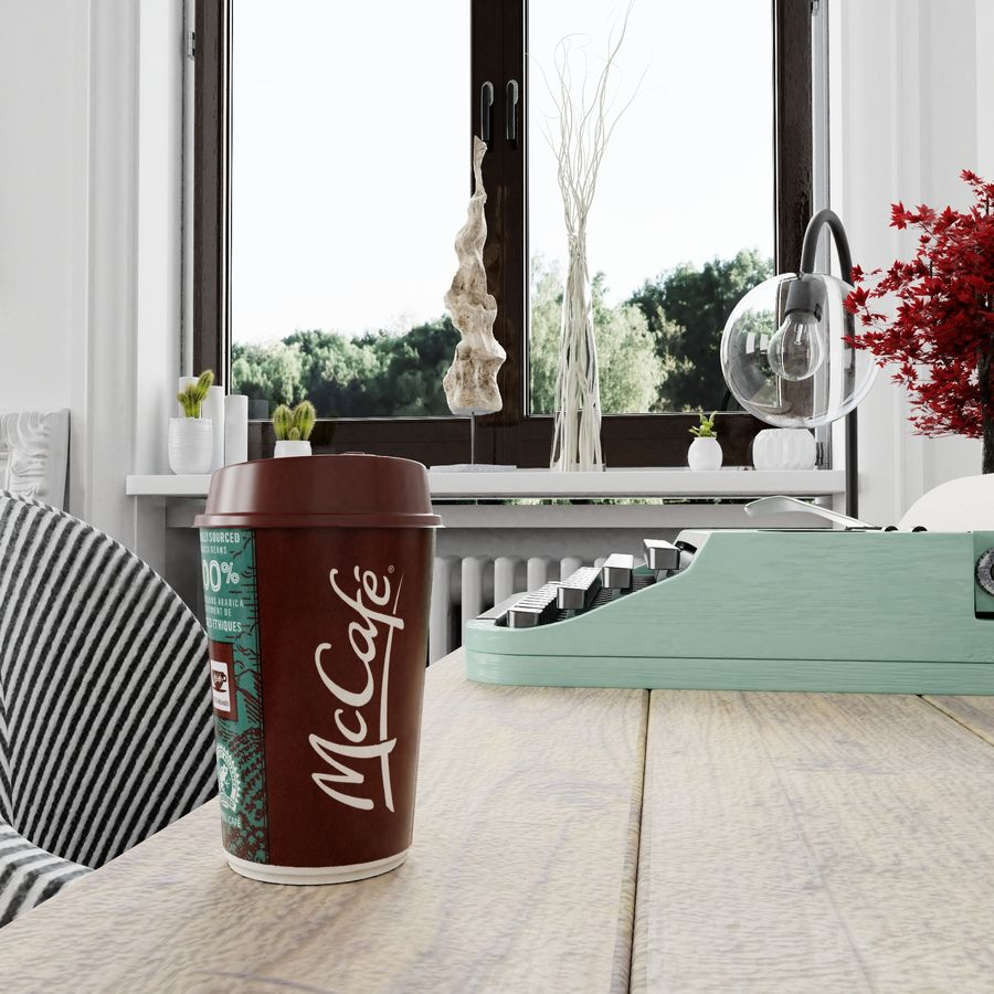 Coppa McCafe royalty-free 3d model - Preview no. 5