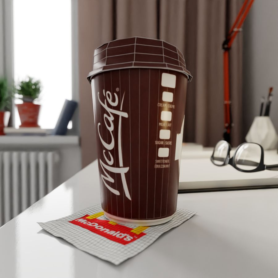 Coppa McCafe royalty-free 3d model - Preview no. 7