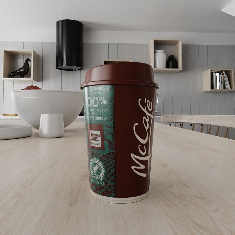 Coppa McCafe royalty-free 3d model - Preview no. 3