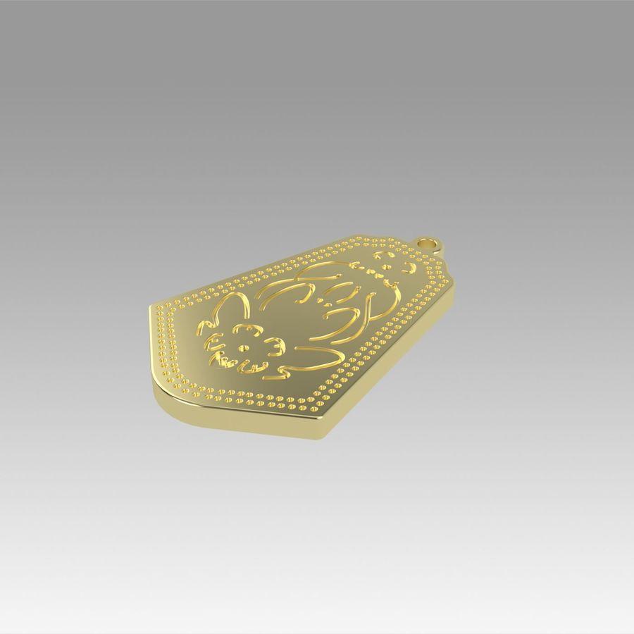 サブリナペンダントラビットコスプレプロップ royalty-free 3d model - Preview no. 2