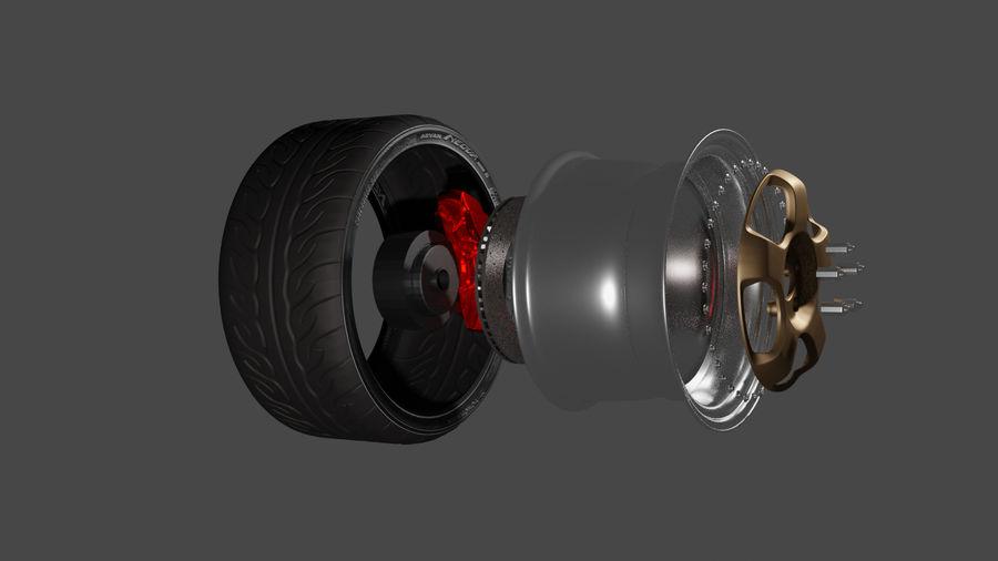 Autoradsatz royalty-free 3d model - Preview no. 1