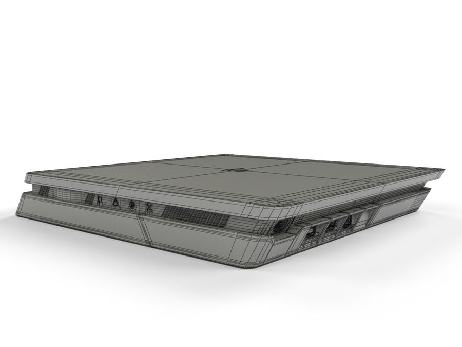 PlayStation 4 Slim游戏机 royalty-free 3d model - Preview no. 9