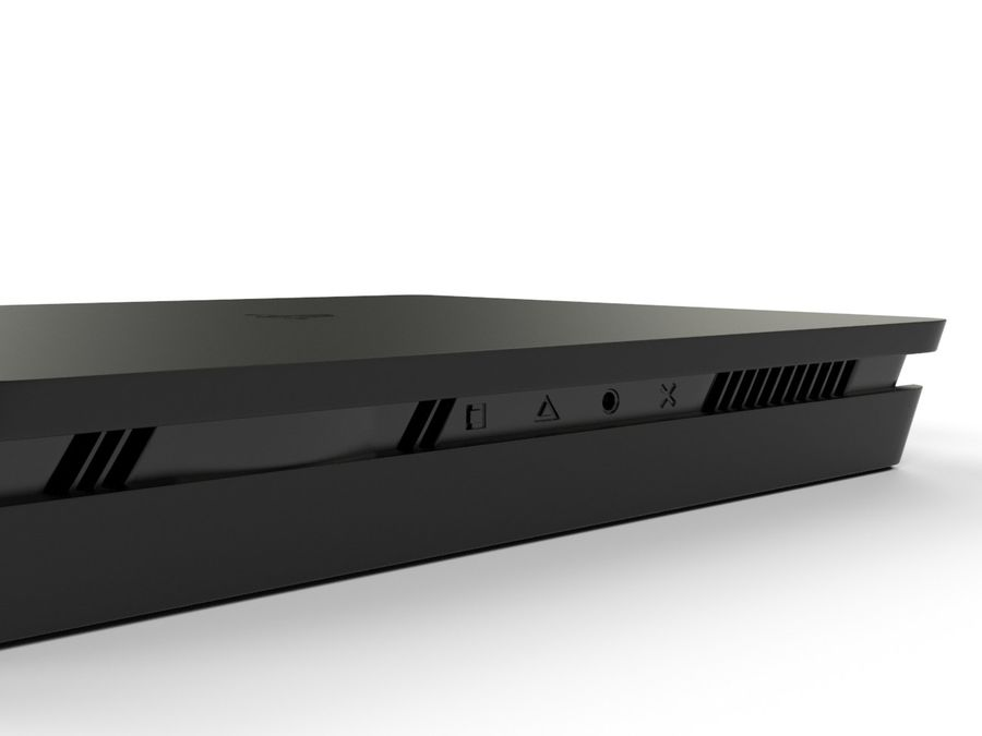 PlayStation 4 Slim游戏机 royalty-free 3d model - Preview no. 5