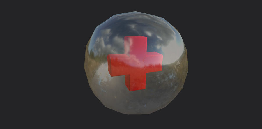 Low-Poly Health Sphere Gesundheit Item Aid Kit Sammlung Low-Poly 3D-Modell royalty-free 3d model - Preview no. 7