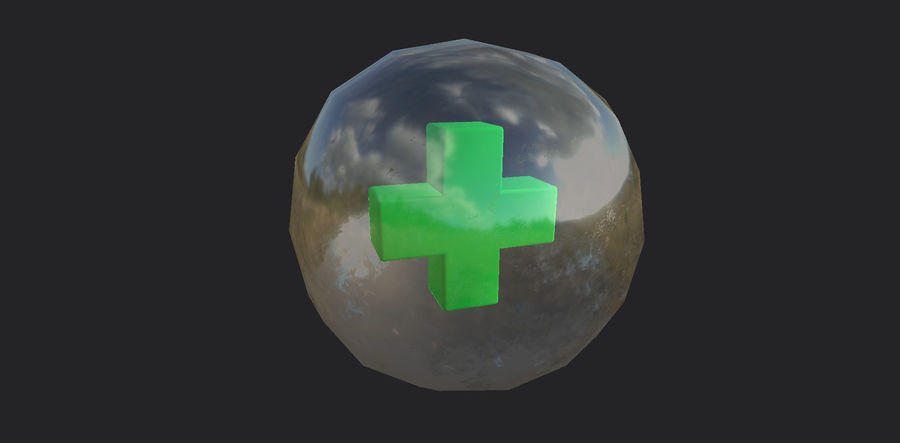 Low-Poly Health Sphere Gesundheit Item Aid Kit Sammlung Low-Poly 3D-Modell royalty-free 3d model - Preview no. 2
