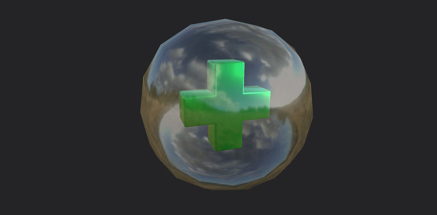Low-Poly Health Sphere Gesundheit Item Aid Kit Sammlung Low-Poly 3D-Modell royalty-free 3d model - Preview no. 1