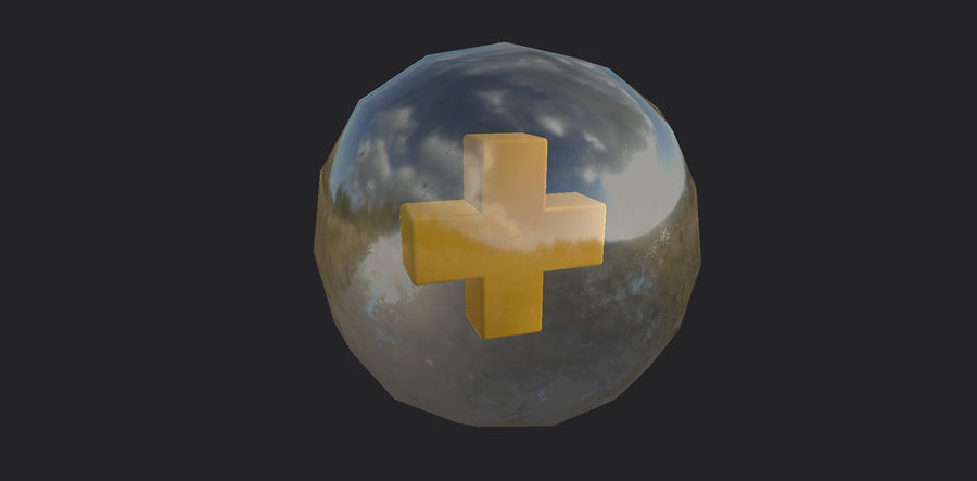 Low-Poly Health Sphere Gesundheit Item Aid Kit Sammlung Low-Poly 3D-Modell royalty-free 3d model - Preview no. 5