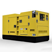 Industrial Diesel Generator 3d model