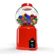 Traditional Gumball Machine 3d model
