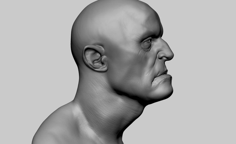 Fantasy Creature Head v5 royalty-free 3d model - Preview no. 2
