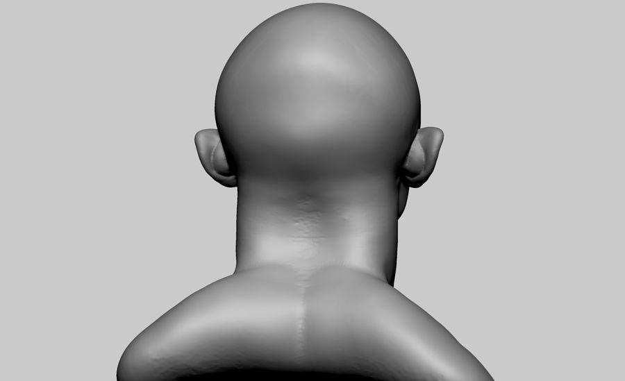 Fantasy Creature Head v5 royalty-free 3d model - Preview no. 3