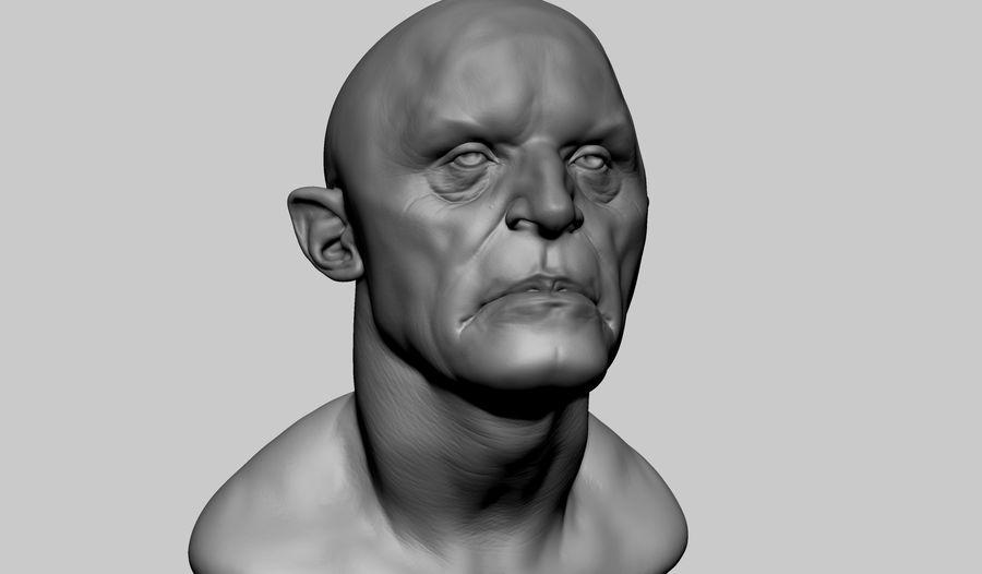 Fantasy Creature Head v5 royalty-free 3d model - Preview no. 1