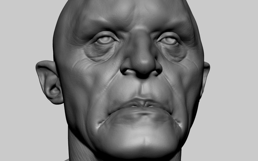 Fantasy Creature Head v5 royalty-free 3d model - Preview no. 7