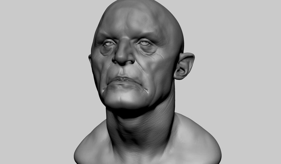 Fantasy Creature Head v5 royalty-free 3d model - Preview no. 6