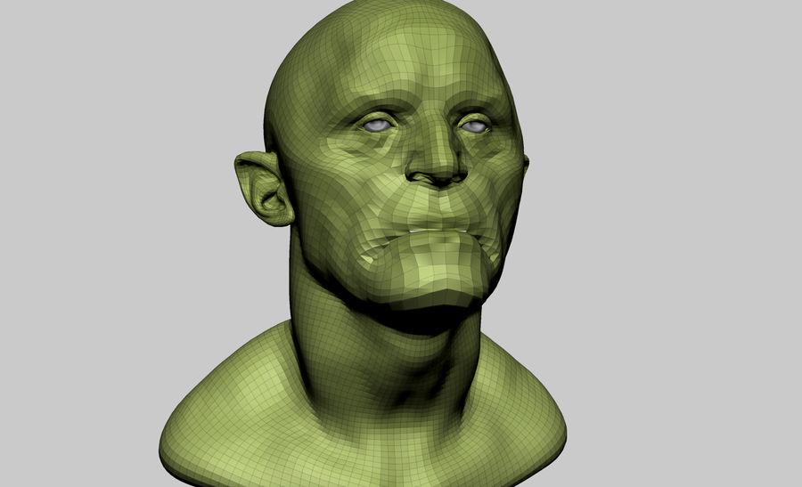 Fantasy Creature Head v5 royalty-free 3d model - Preview no. 8
