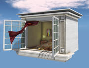 Janela voadora Skybox 3d model