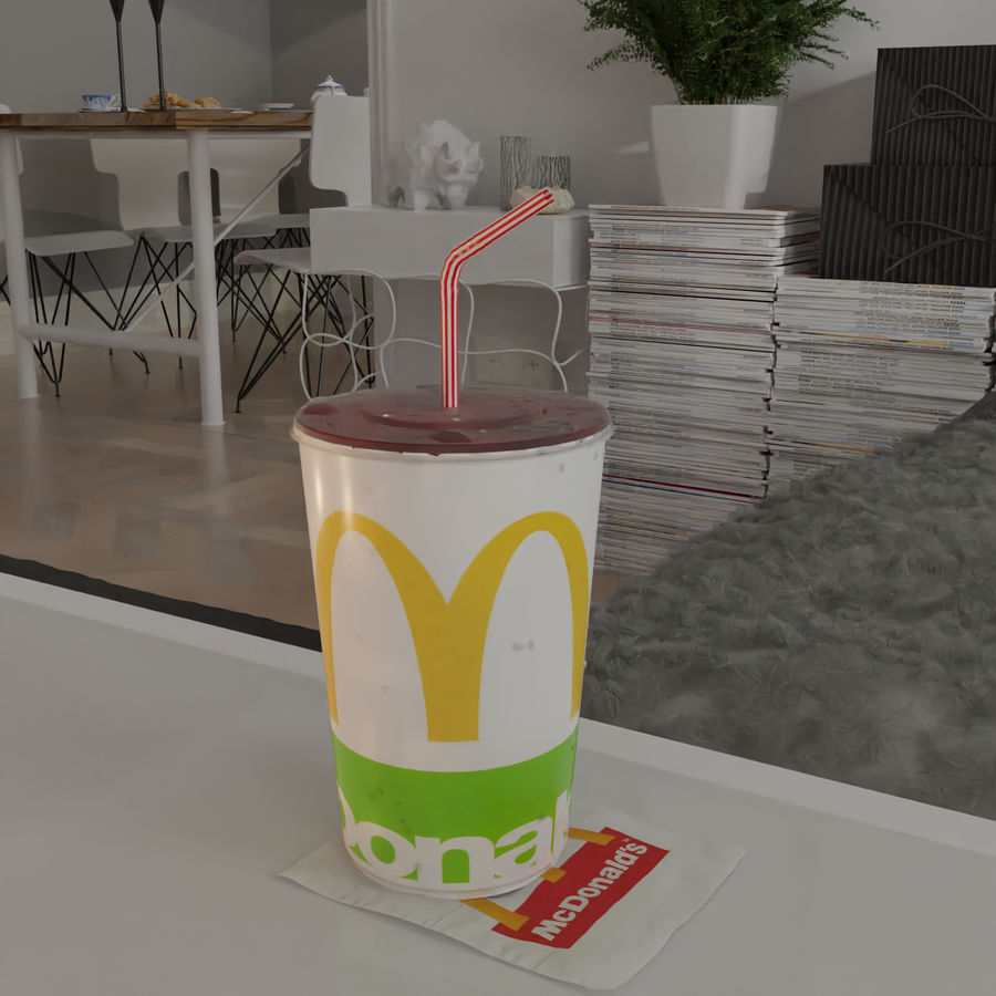 McDonalds Cup royalty-free 3d model - Preview no. 4