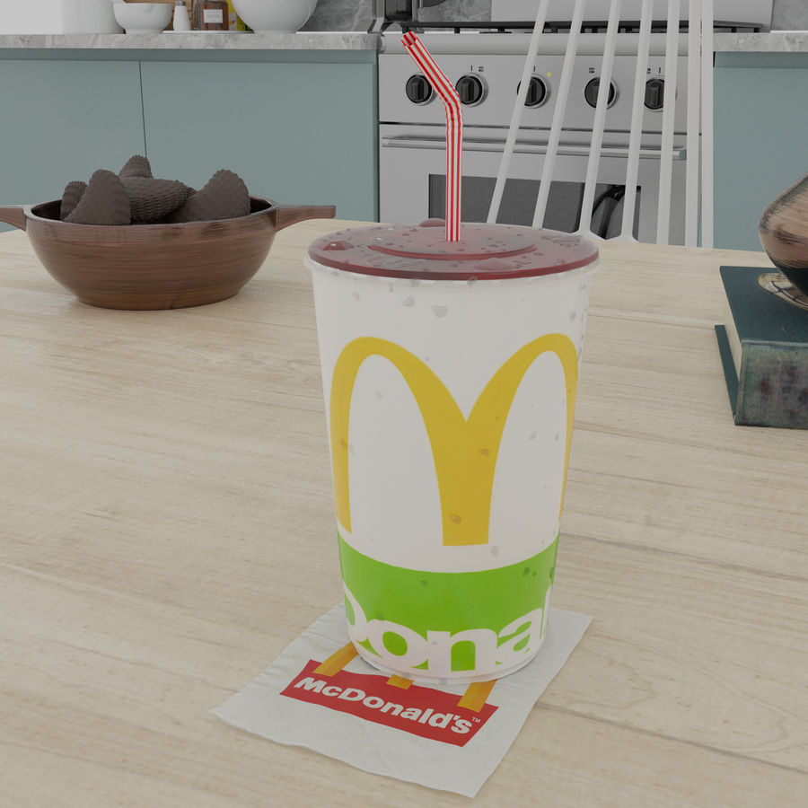 McDonalds Cup royalty-free 3d model - Preview no. 5