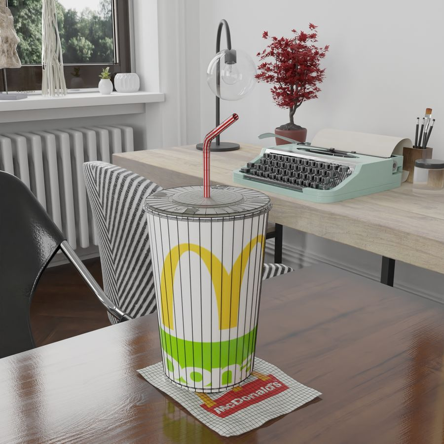 McDonalds Cup royalty-free 3d model - Preview no. 6