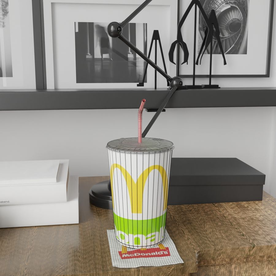 McDonalds Cup royalty-free 3d model - Preview no. 9