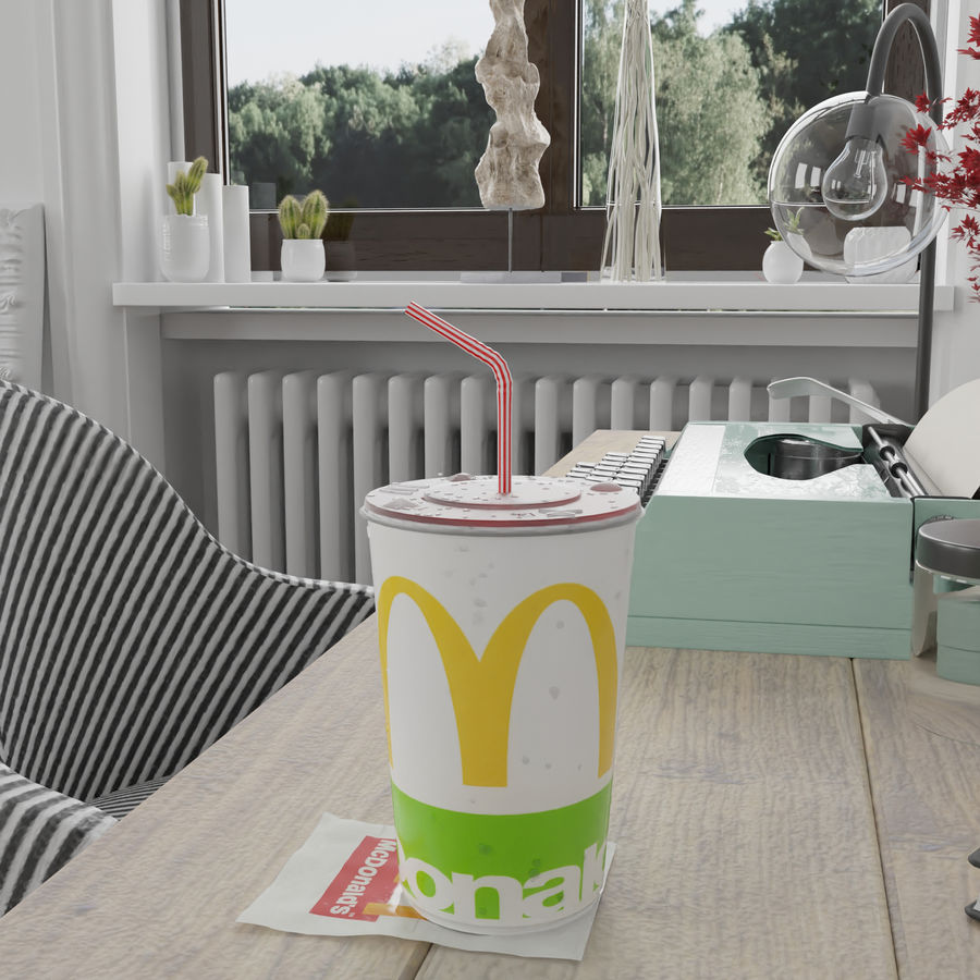 Coppa McDonald's royalty-free 3d model - Preview no. 1