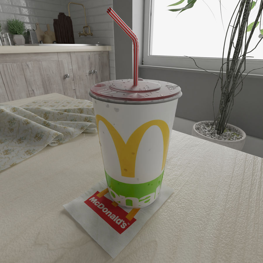 McDonalds Cup royalty-free 3d model - Preview no. 2