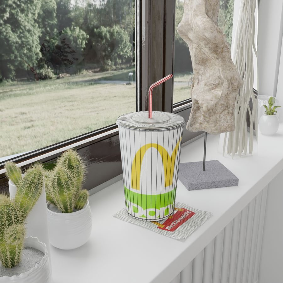 McDonalds Cup royalty-free 3d model - Preview no. 7