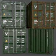 PBR 10 ft Saklama Kabı - Yeşil 3d model