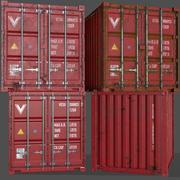 PBR 10 ft Saklama Kabı - Kırmızı 3d model