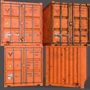 PBR 10 ft Contenitore - Arancione 3d model
