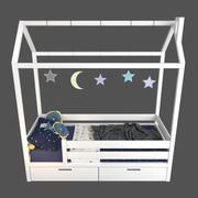 Bed-house 3d model
