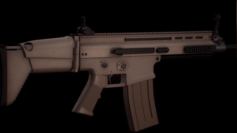 FN Scar-H royalty-free 3d model - Preview no. 1