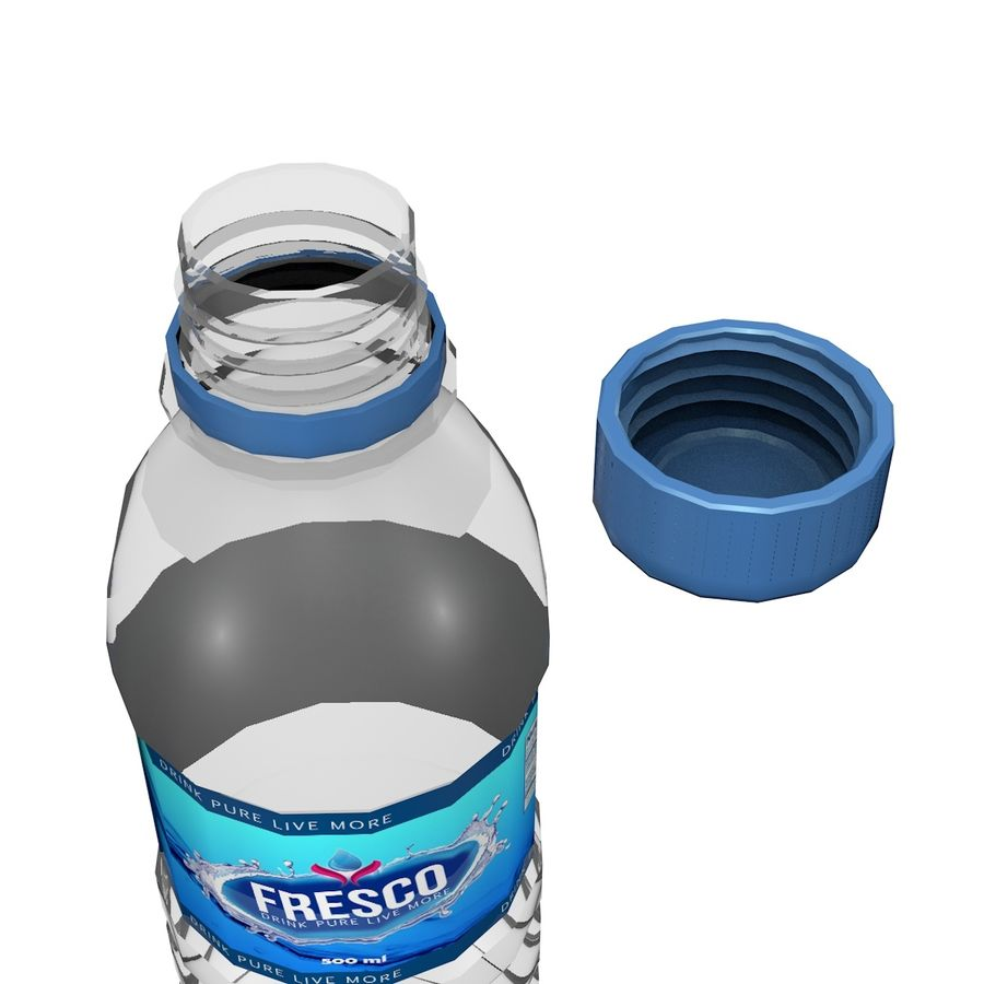 Water Bottle 2 royalty-free 3d model - Preview no. 3