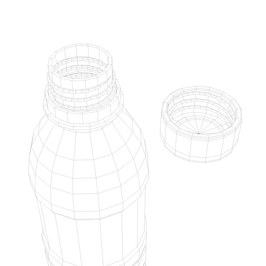 Water Bottle 2 royalty-free 3d model - Preview no. 6