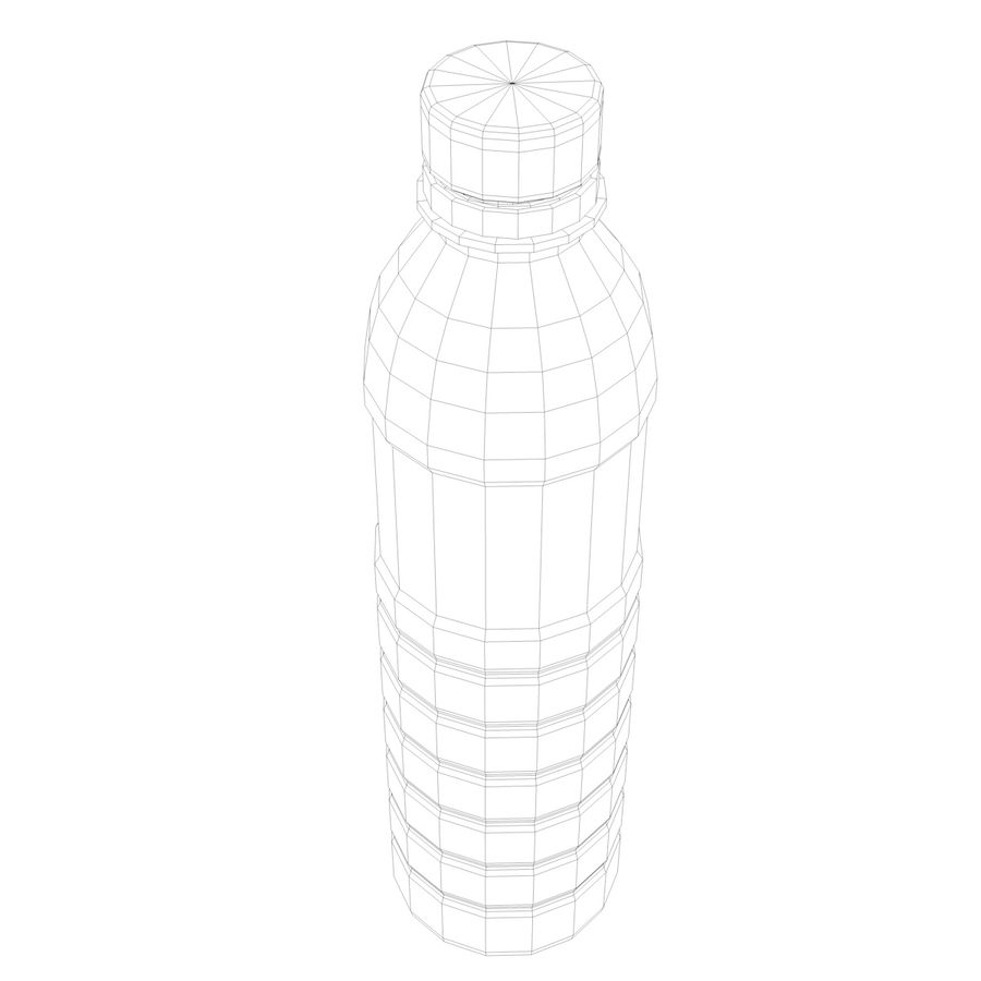 Water Bottle 2 royalty-free 3d model - Preview no. 5