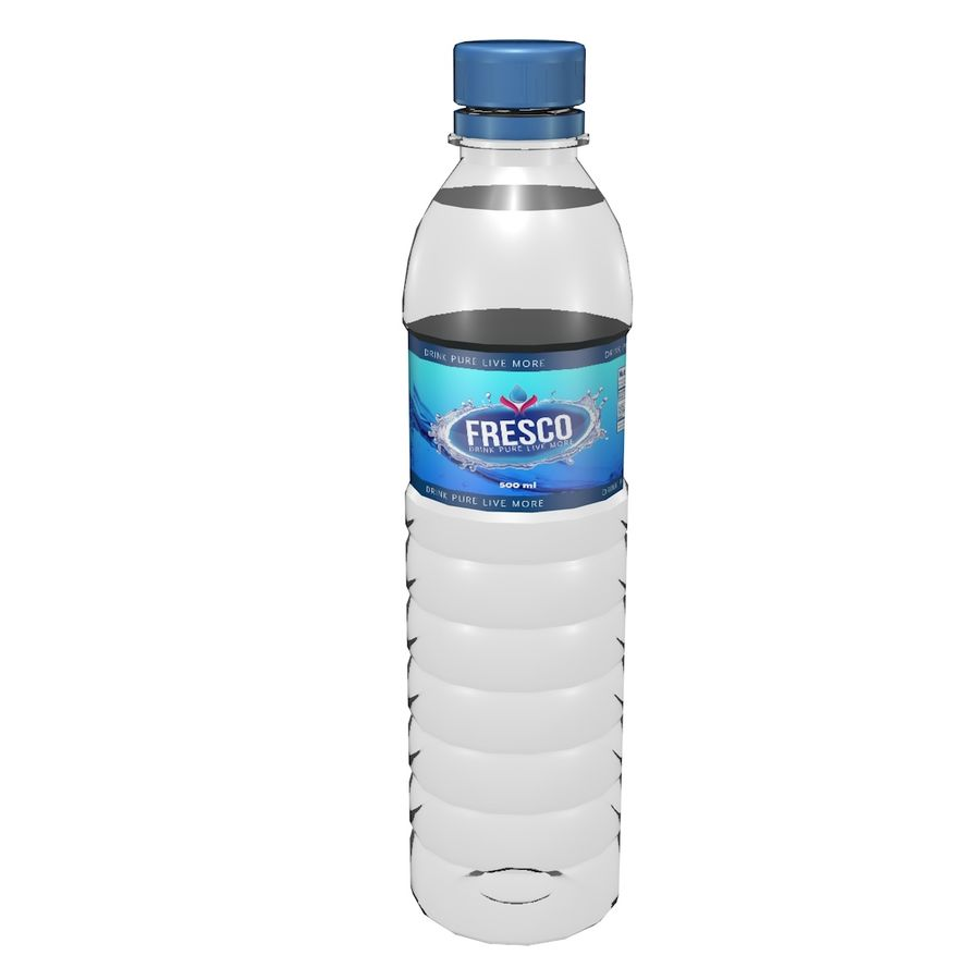 Water Bottle 2 royalty-free 3d model - Preview no. 1