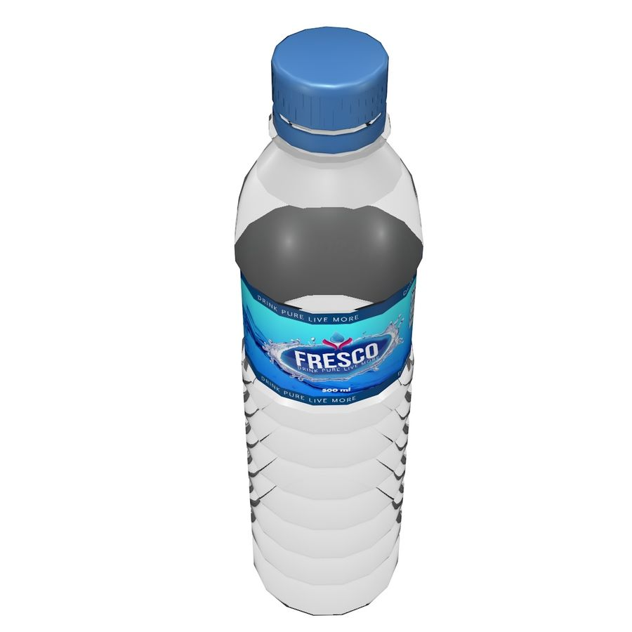 Water Bottle 2 royalty-free 3d model - Preview no. 2