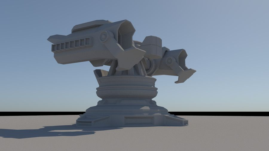 Sci Fi Missile Rocket Turret royalty-free 3d model - Preview no. 1