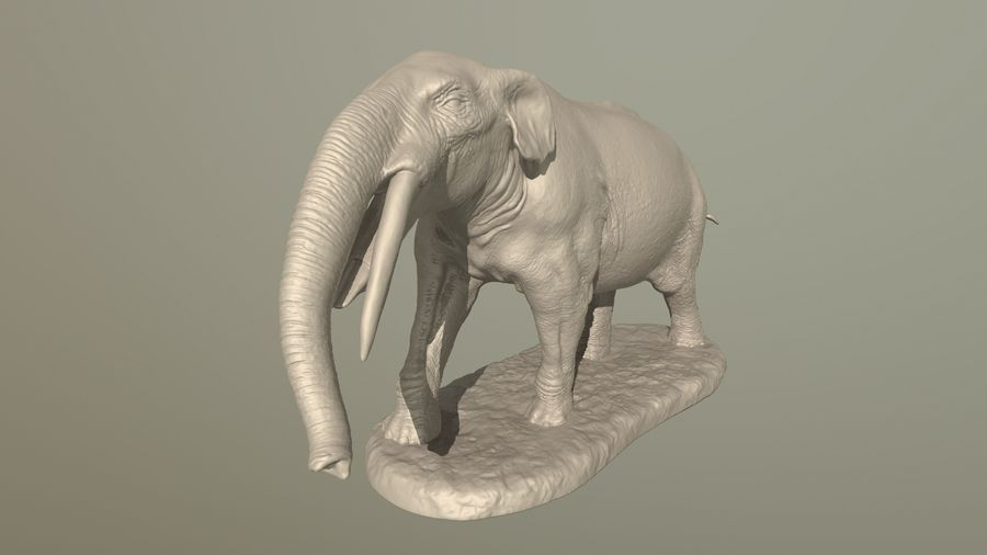 Gomphotherium atavus model for 3D printing royalty-free 3d model - Preview no. 1