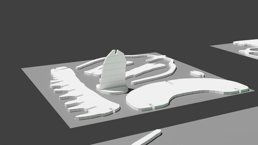 Brachiosaurus Puzzle royalty-free 3d model - Preview no. 1