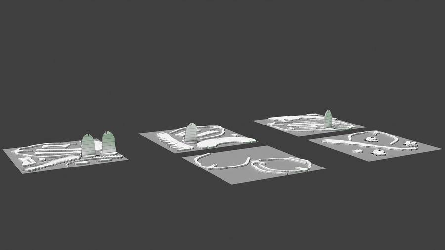 Brachiosaurus Puzzle royalty-free modelo 3d - Preview no. 7