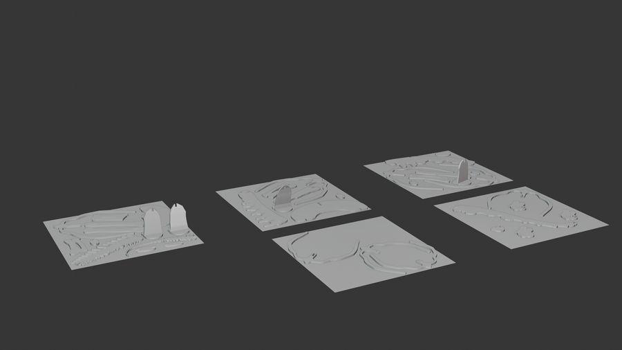 Brachiosaurus Puzzle royalty-free modelo 3d - Preview no. 4