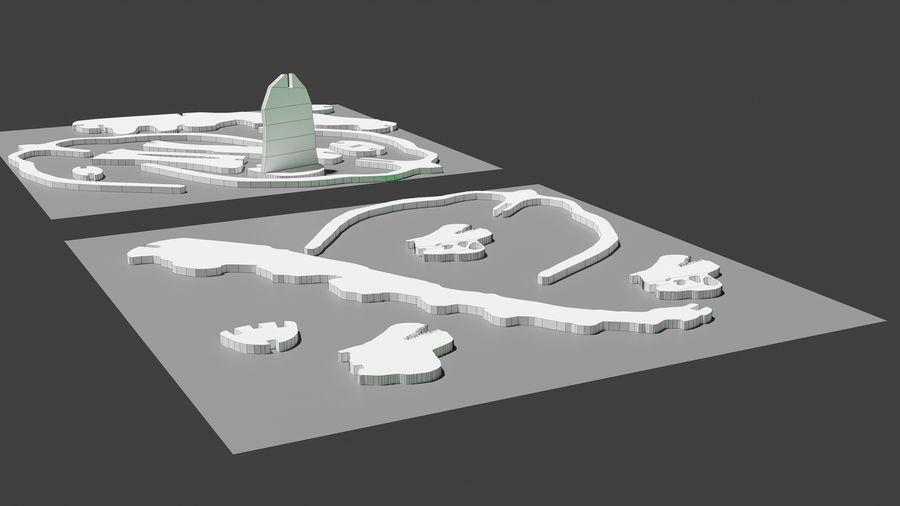 Brachiosaurus Puzzle royalty-free modelo 3d - Preview no. 11